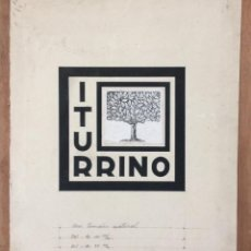 Arte: ITURRINO--BOCETO EXLIBRIS APELLIDO ITURRINO, ORIGINAL ,IDEAL COLECCIONISTAS. Lote 234391190
