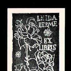 Arte: A4-1-7 EX LIBRIS DE E. OKAS PARA LEIDA EERME AÑO 1962 AUTOGRAFIADO A LAPIZ.. Lote 235590560