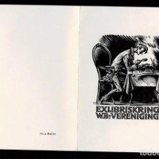 Arte: A4-16-3 EXLIBRIS EL COLECCIONISTA DE EXLIBRIS KRING W.B. VERENIGING HET BESTUUR WENST U VAN HARTE. Lote 235604470