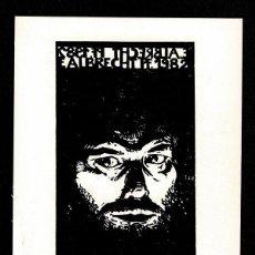 Arte: A4-18-3 EX LIBRIS DE E. ALBRECHT 1982 AUTOGRAFIADA CON LAPIZ. Lote 235609425