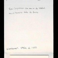 Arte: A4-18-4 EX LIBRIS - FELICITACION DE ORIOLMESDOÑER AUTOGRAFIADA CON LAPIZ. Lote 235609470