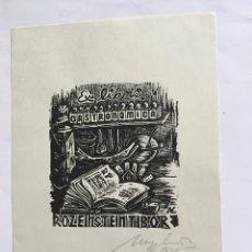 Arte: EX-LIBRIS EXLIBRIS LÁSZLO ARPAD NAGY, OPUS 3. GASTRONOMÍA LIBRO DE COCINA PESCADO. Lote 235977225