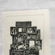 Arte: EX-LIBRIS EXLIBRIS PARA J. J. VAN DER MUUR. PINTURA DESNUDO PICASSO. Lote 236176740