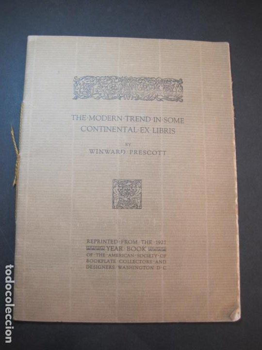 Arte: THE MODERN TREND IN SOME CONTINENTAL EX LIBRIS-WINWARD PRESCOTT-AÑO 1927-VER FOTOS-(K-1753) - Foto 2 - 238834760