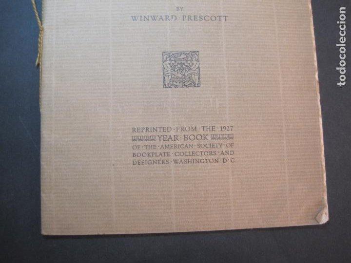 Arte: THE MODERN TREND IN SOME CONTINENTAL EX LIBRIS-WINWARD PRESCOTT-AÑO 1927-VER FOTOS-(K-1753) - Foto 4 - 238834760
