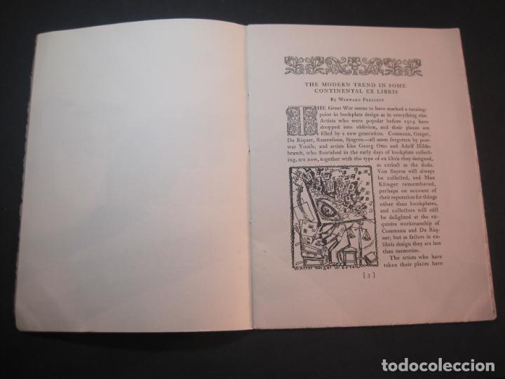 Arte: THE MODERN TREND IN SOME CONTINENTAL EX LIBRIS-WINWARD PRESCOTT-AÑO 1927-VER FOTOS-(K-1753) - Foto 6 - 238834760