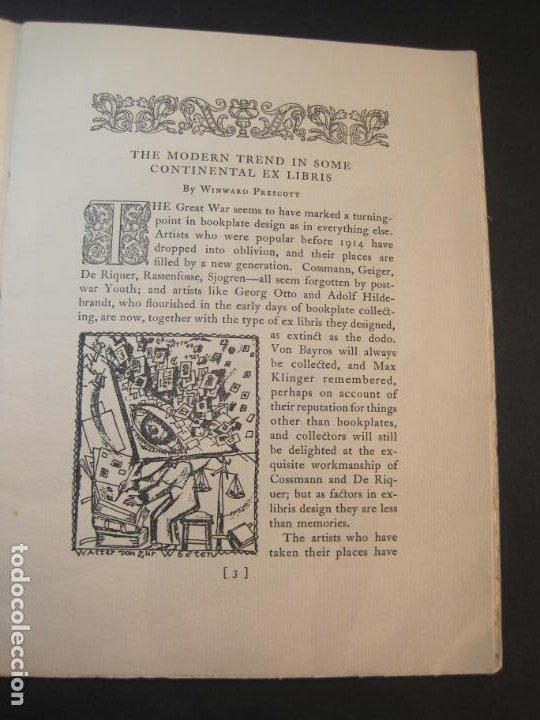 Arte: THE MODERN TREND IN SOME CONTINENTAL EX LIBRIS-WINWARD PRESCOTT-AÑO 1927-VER FOTOS-(K-1753) - Foto 7 - 238834760