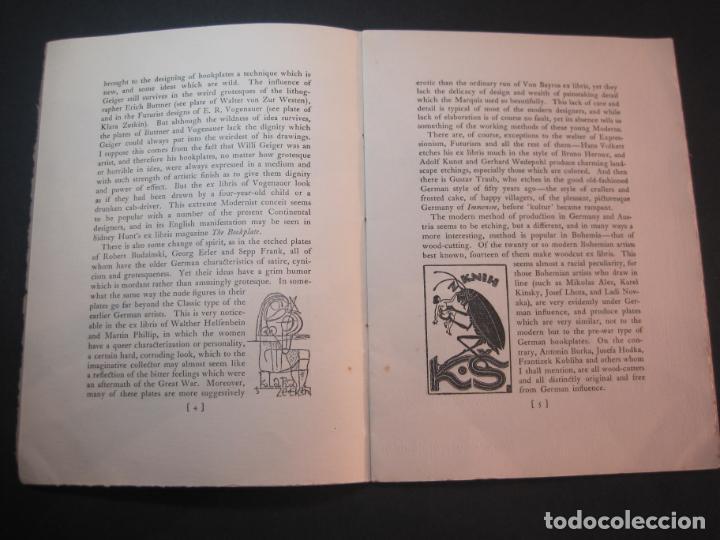 Arte: THE MODERN TREND IN SOME CONTINENTAL EX LIBRIS-WINWARD PRESCOTT-AÑO 1927-VER FOTOS-(K-1753) - Foto 8 - 238834760
