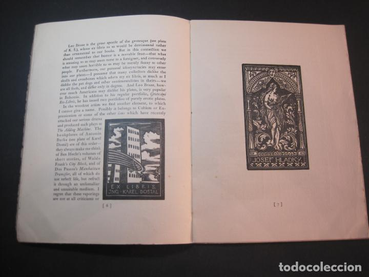 Arte: THE MODERN TREND IN SOME CONTINENTAL EX LIBRIS-WINWARD PRESCOTT-AÑO 1927-VER FOTOS-(K-1753) - Foto 10 - 238834760