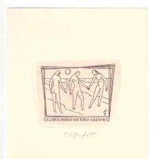 Arte: EX- LIBRIS.- MARIA VIKTORIA ILGENFRITZ. ILUSTRADO POR H. ILGENFRITZ. DESNUDO. ARTE. LIBROS. Lote 288937153