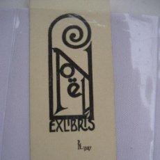 Arte: EX_LIBRIS. L. NOËLL. 1927- 16 X 6 CMS.. Lote 246061385
