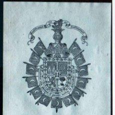 Arte: GIROEXLIBRIS.- EX LIBRIS HERÁLDICO PARA MARÍA LUZ LARIOS Y TEJEIRO CON UNAS MEDIDAS DE 8 X 11 CTMOS. Lote 246069800