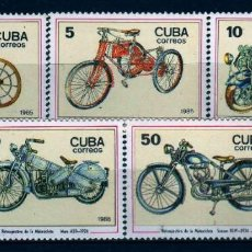 Arte: GIROEXLIBRIS.- CUBA, SERIE COMPLETA 1985 THE 100TH ANNIVERSARY OF THE MOTORCYCLE. Lote 246071765