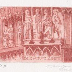 Arte: EX-LIBRIS DE LUISA GARCIA MURO PARA ARTURO ZAERA – FIRMADO. Lote 248030900