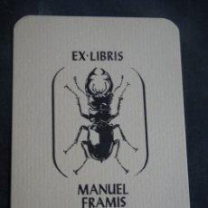 Arte: EX LIBRIS MANUEL FRAMIS BACH , VER FOTOS. Lote 250168700