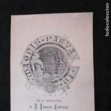 Arte: EX LIBRIS-EDUARDO CONTRERAS-VER FOTOS-(X-3014). Lote 260756745