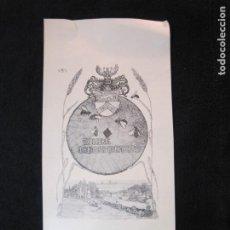 Arte: EX LIBRIS-THEODOR BIENERT-VER FOTOS-(X-3016). Lote 260756930