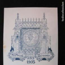 Arte: EX LIBRIS-VICTORI BISBAL-ANY 1903-VER FOTOS-(X-3017). Lote 260756995
