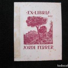 Arte: EX LIBRIS-JORDI FERRER-VER FOTOS-(X-3021). Lote 260757225