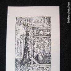 Arte: EX LIBRIS-EMMA ALEXANDER-VER FOTOS-(X-3022). Lote 260757320