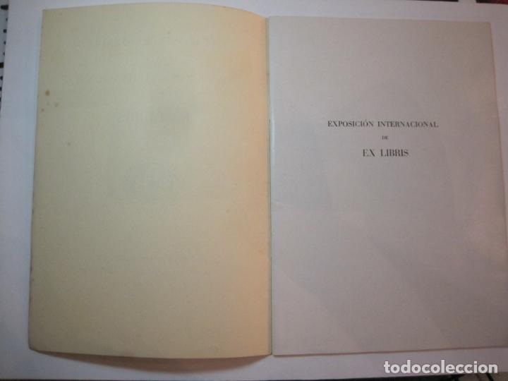 Arte: EX LIBRIS-CATALOGO ILUSTRADO DE LA EXPOSICION INTERNACIONAL-BARCELONA AÑO 1957VER FOTOS-(K-2715) - Foto 3 - 261625290