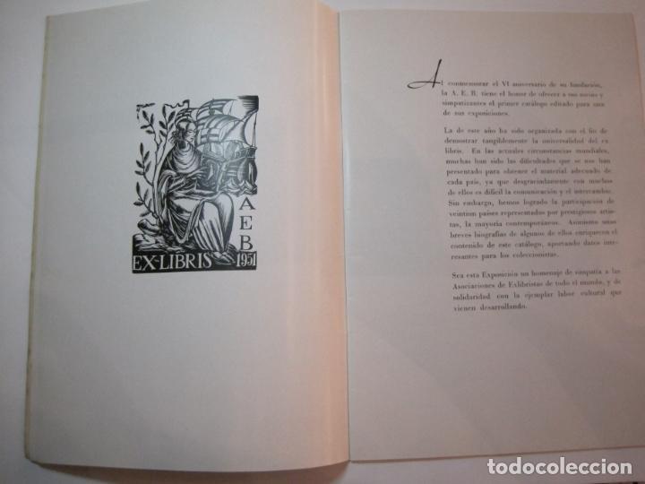 Arte: EX LIBRIS-CATALOGO ILUSTRADO DE LA EXPOSICION INTERNACIONAL-BARCELONA AÑO 1957VER FOTOS-(K-2715) - Foto 5 - 261625290