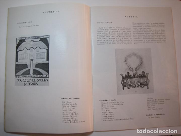 Arte: EX LIBRIS-CATALOGO ILUSTRADO DE LA EXPOSICION INTERNACIONAL-BARCELONA AÑO 1957VER FOTOS-(K-2715) - Foto 7 - 261625290