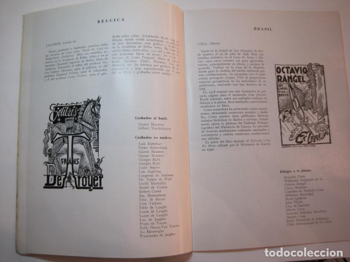 Arte: EX LIBRIS-CATALOGO ILUSTRADO DE LA EXPOSICION INTERNACIONAL-BARCELONA AÑO 1957VER FOTOS-(K-2715) - Foto 8 - 261625290