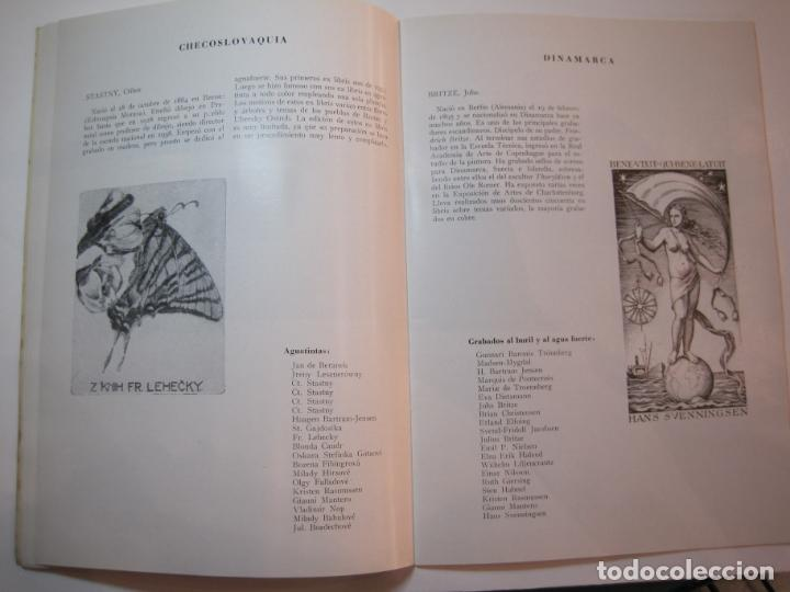 Arte: EX LIBRIS-CATALOGO ILUSTRADO DE LA EXPOSICION INTERNACIONAL-BARCELONA AÑO 1957VER FOTOS-(K-2715) - Foto 9 - 261625290