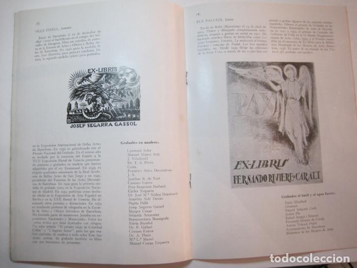 Arte: EX LIBRIS-CATALOGO ILUSTRADO DE LA EXPOSICION INTERNACIONAL-BARCELONA AÑO 1957VER FOTOS-(K-2715) - Foto 11 - 261625290