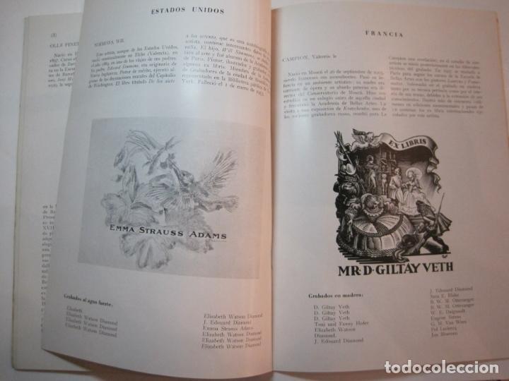 Arte: EX LIBRIS-CATALOGO ILUSTRADO DE LA EXPOSICION INTERNACIONAL-BARCELONA AÑO 1957VER FOTOS-(K-2715) - Foto 12 - 261625290