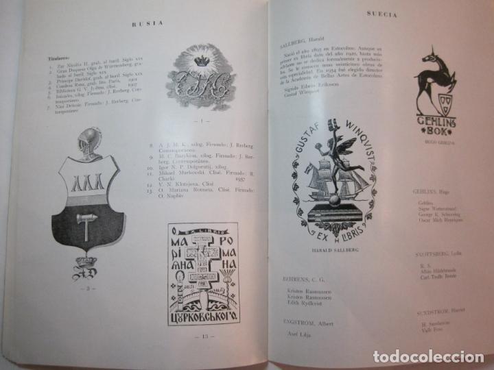 Arte: EX LIBRIS-CATALOGO ILUSTRADO DE LA EXPOSICION INTERNACIONAL-BARCELONA AÑO 1957VER FOTOS-(K-2715) - Foto 17 - 261625290