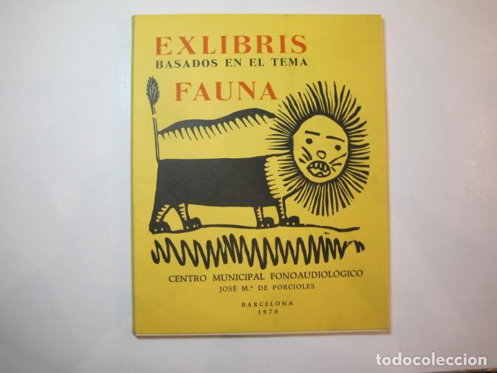 EX LIBRIS BASADOS EN EL TEMA FAUNA-BARCELONA, 1970-CENTRO MPAL FONOAUDIOLOGICO-VER FOTOS-(K-2719) (Arte - Ex Libris)