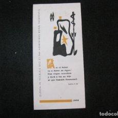 Arte: EX LIBRIS-MARIANO GOMA PUJADAS-FELICITACION ANTIGUA-VER FOTOS-(K-3333). Lote 269471178
