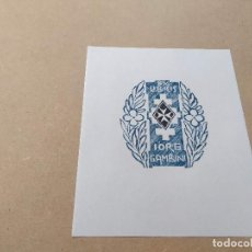 Arte: EX-LIBRIS DE IORG GAMBINI - XILOGRAFÍA IORG GAMBINI. Lote 270914538