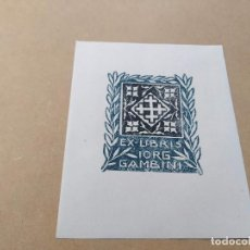 Arte: EX-LIBRIS DE IORG GAMBINI - XILOGRAFÍA IORG GAMBINI. Lote 270914748