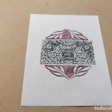Arte: EX-LIBRIS DE IORG GAMBINI - XILOGRAFÍA IORG GAMBINI. Lote 270915248