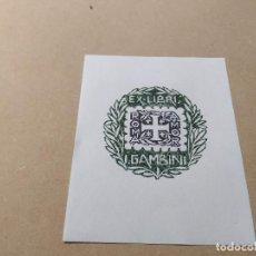 Arte: EX-LIBRIS DE I. GAMBINI - ROMA AMOR - XILOGRAFÍA IORG GAMBINI. Lote 270916088