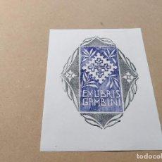 Arte: EX-LIBRIS DE GAMBINI - XILOGRAFÍA IORG GAMBINI. Lote 270916948