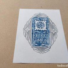 Arte: EX-LIBRIS DE GAMBINI - XILOGRAFÍA IORG GAMBINI. Lote 270917223
