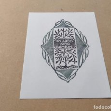 Arte: EX-LIBRIS DE IORG GAMBINI - XILOGRAFÍA IORG GAMBINI. Lote 270918053