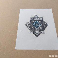 Arte: EX-LIBRIS DE GAMBINI - XILOGRAFÍA IORG GAMBINI. Lote 270918238