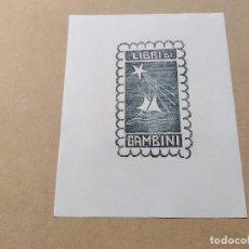 Arte: EX-LIBRIS DE GAMBINI - XILOGRAFÍA IORG GAMBINI. Lote 270927688