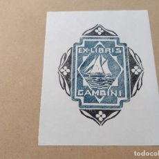Arte: EX-LIBRIS DE GAMBINI - XILOGRAFÍA IORG GAMBINI. Lote 270927888