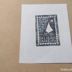 Arte: EX-LIBRIS DE GAMBINI - XILOGRAFÍA IORG GAMBINI. Lote 270928213