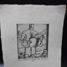 Arte: EX LIBRIS DE SEPP FRANK PARA EDUARD MOLAS AGUAFUERTE EXLIBRIS. Lote 228168240