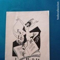 Arte: EXLIBRIS JOSEP BATLLÉ. Lote 275788258