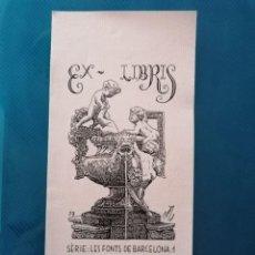 Arte: EXLIBRIS BERNAT SIGALÉS. Lote 275788313