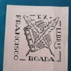 Arte: EXLIBRIS FRANCISCO BOADA. Lote 275789393