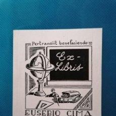 Arte: EXLIBRIS EUSEBI CIMA (TERRASSA). Lote 275789788